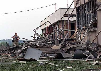 La tv serba di Novi Sad dopo i bombardamenti Nato