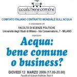 Al via il V Forum mondiale dell'Acqua: bene comune o merce?