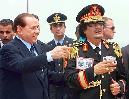 Berlusconi e Gheddafi