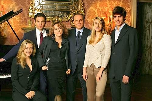 figli Berlusconi