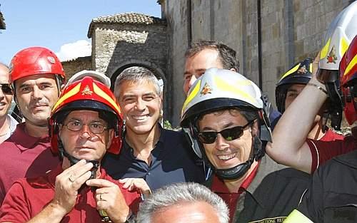 George Clooney L'Aquila