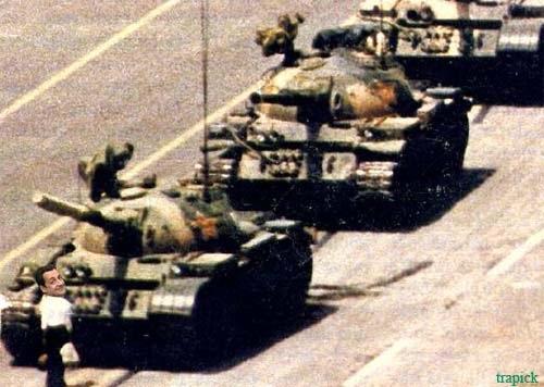 Sarkozy a Tienanmen