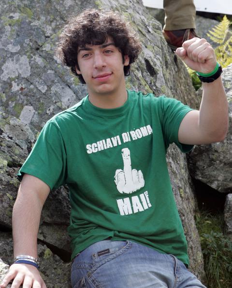 Renzo Bossi, figlio di Umberto. Foto dalla rete